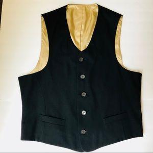 Fioravanti soft suit vest black gold lined size 40